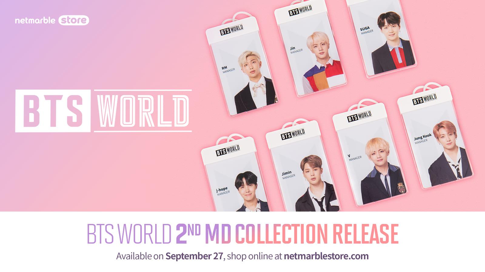 《BTS WORLD》第二波系列周邊商品  9月27日即將在網石網路商城推出
