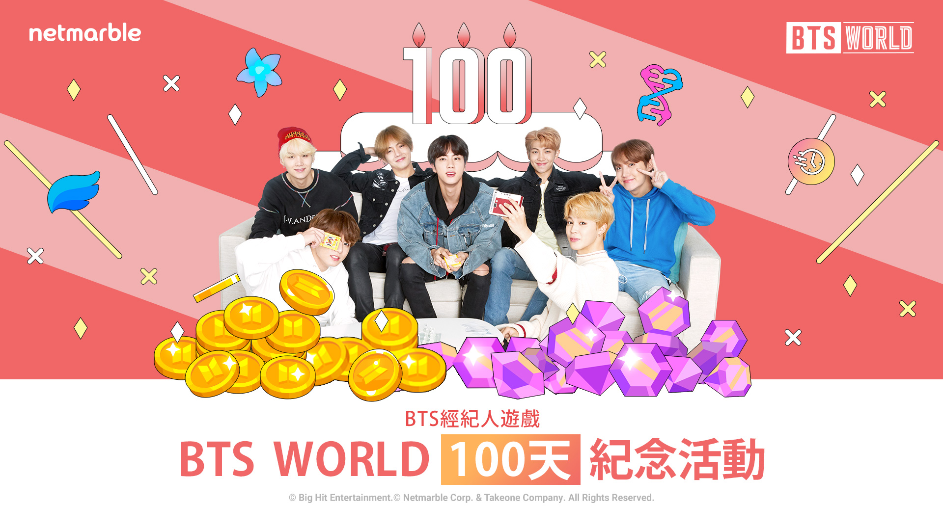 《BTS WORLD》 推出「100天紀念活動」
