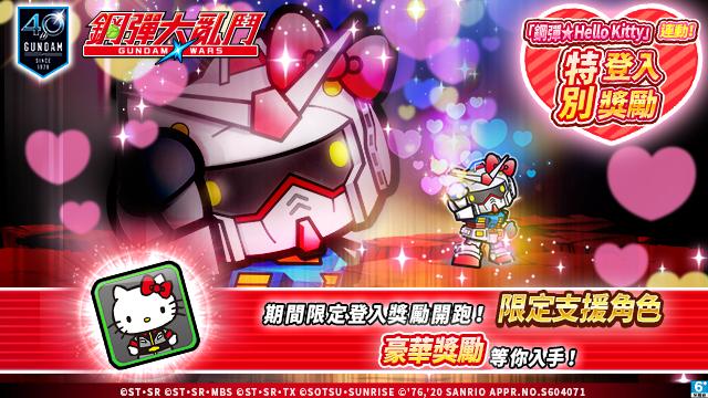 Hello Kitty × LINE: 鋼彈大亂鬥 合作活動登場!